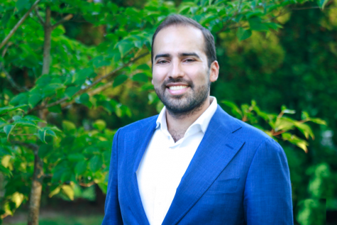 """Director of Enrollment Management Jorge Delgado emigrated from Peru before attending Brentwood School in Los Angeles and Wesleyan University in Connecticut. """"I very much believe in the power of education, as it has shaped the trajectory of my life,"""" he said."""